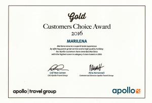 Apollo Gold Customer Choice Award 2016