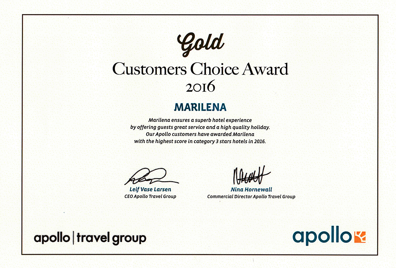 Apollo Gold Customer Choice Award 2016