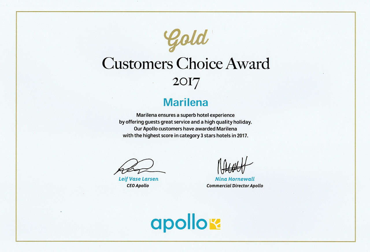 Apollo Gold Customer Choice Award 2017